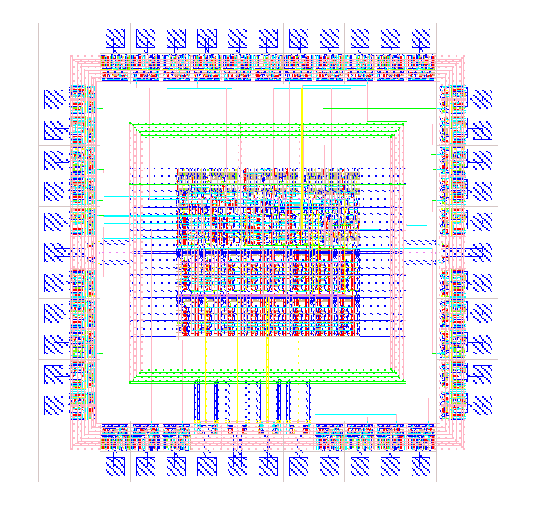 Routed AM2901 layout picture.